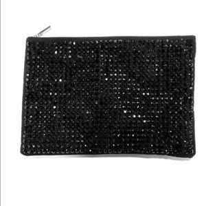 Deux Lux Black Madonna Pouch Clutch Bag